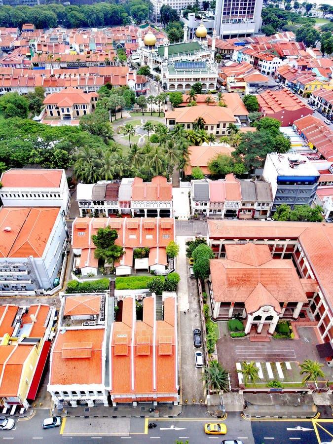 Distrito de Bugis en Singapur imagenes de archivo