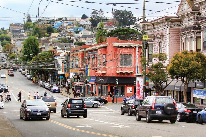 Distrito de Castro en San Francisco imagen de archivo