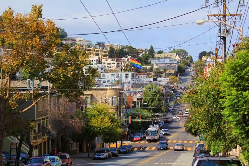 Distrito de Castro en San Francisco foto de archivo libre de regalías