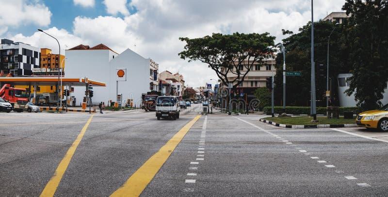 Distrito de Kallang en Singapur fotos de archivo
