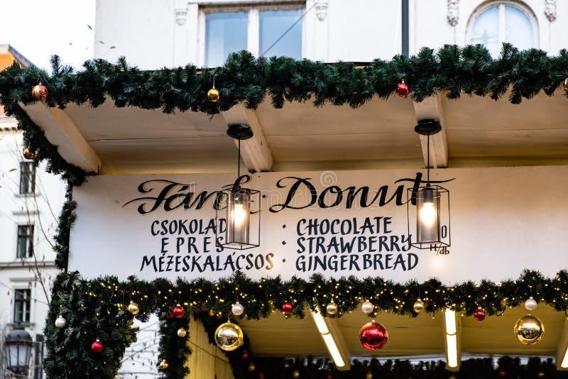 Distrito de la comida de la calle, Budapest imagen de archivo