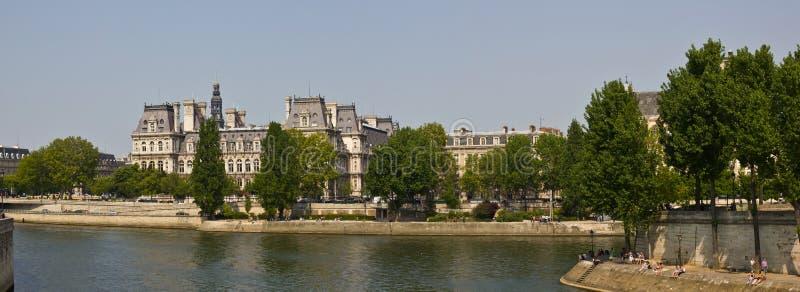 Distrito de Le Marais, Paris - panorama fotos de stock