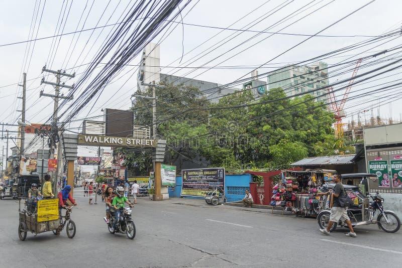 Distrito de luz vermelha Filipinas da cidade de Angeles imagens de stock royalty free