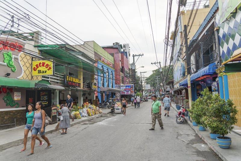 Distrito de luz vermelha Filipinas da cidade de Angeles imagem de stock royalty free