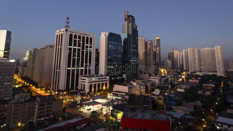 Distrito de Makati em manila, Filipinas imagens de stock