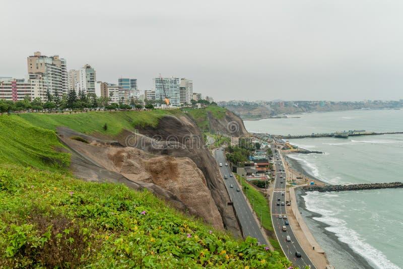 Distrito de Miraflores del distrito de Lima Miraflores de Lima imagen de archivo