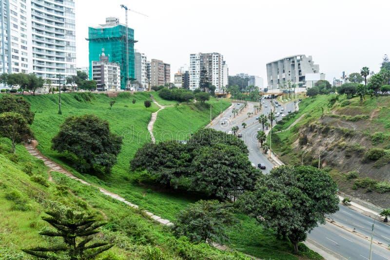 Distrito de Miraflores de Lima imagen de archivo libre de regalías