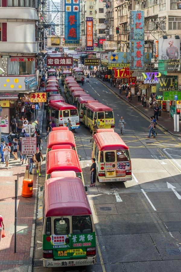 Distrito de Mong Kok em Hong Kong foto de stock royalty free