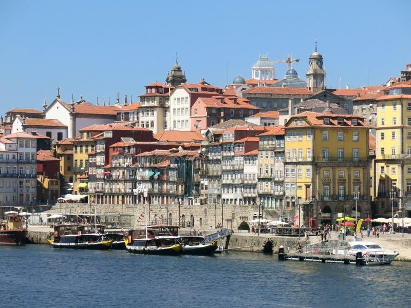 Distrito de Ribeira en Oporto fotos de archivo