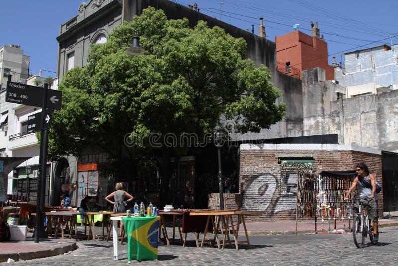 Distrito de San Telmo em Buenos Aires fotos de stock royalty free