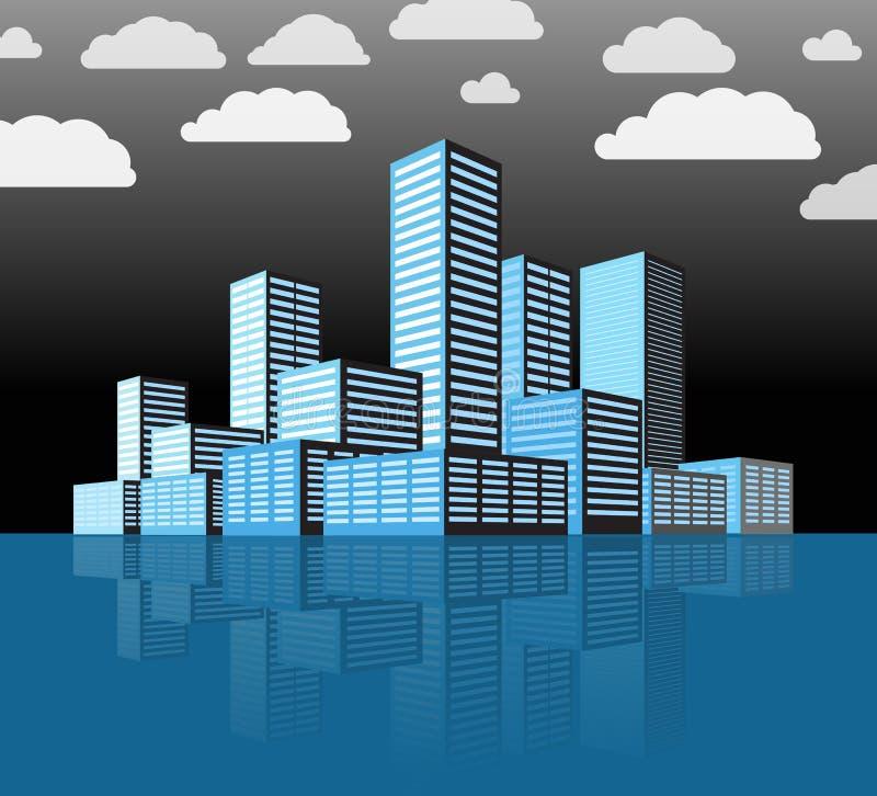 Distrito de una ciudad moderno libre illustration