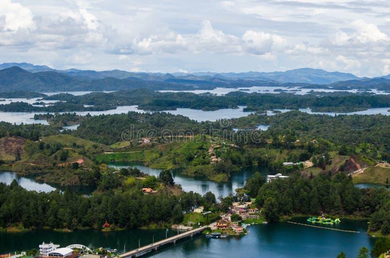 Distrito del lago de Guatape, Colombia foto de archivo libre de regalías