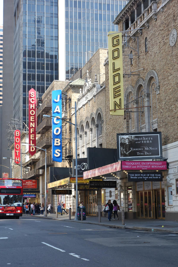 Distrito del teatro fotos de archivo