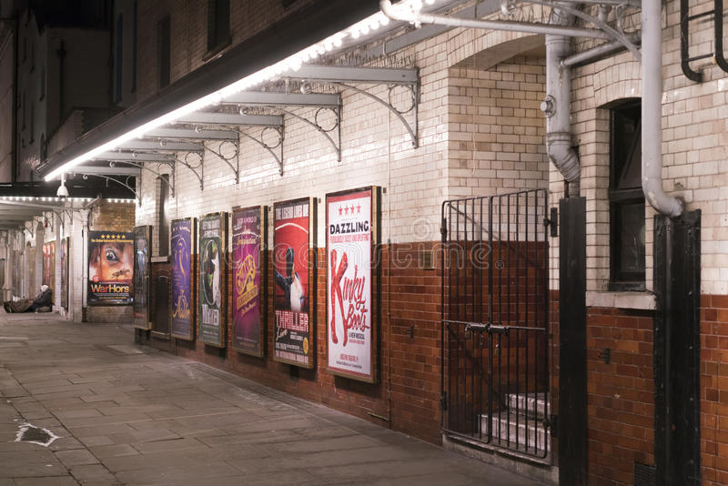 Distrito del teatro en SOHO Londres Reino Unido de Londres fotografía de archivo libre de regalías