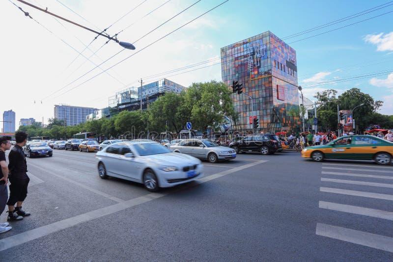 Distrito do anúncio publicitário de Sanlitun do Pequim foto de stock royalty free