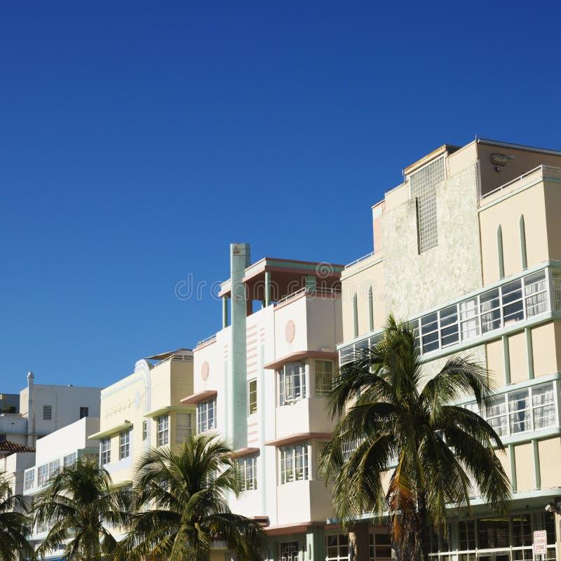Distrito do art deco de Miami foto de stock