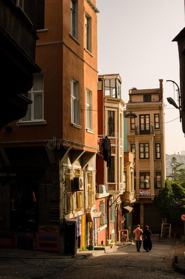 Distrito do balat Istambul III foto de stock royalty free