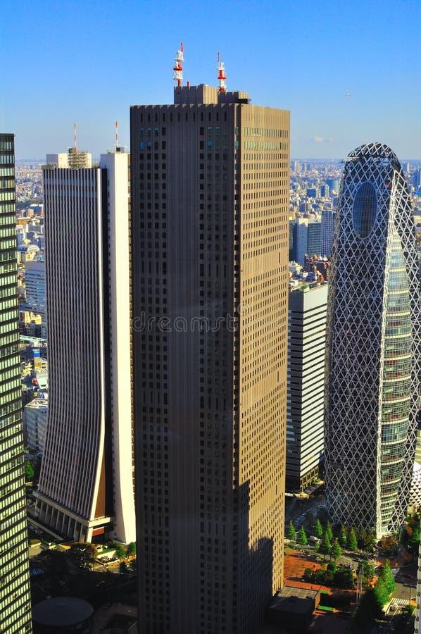 Distrito do céu-scrapper de Tokyo fotografia de stock royalty free
