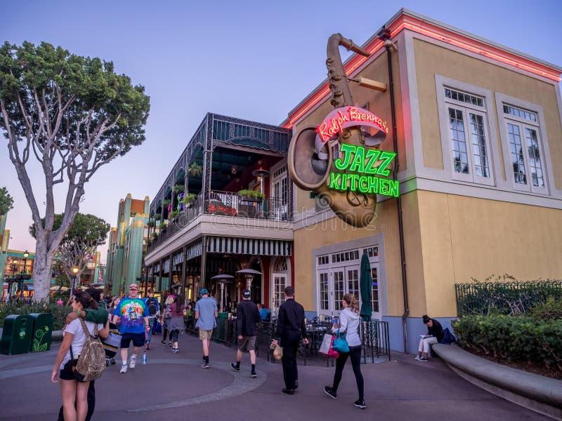 Distrito do centro da compra e do entretenimento de Disney imagens de stock