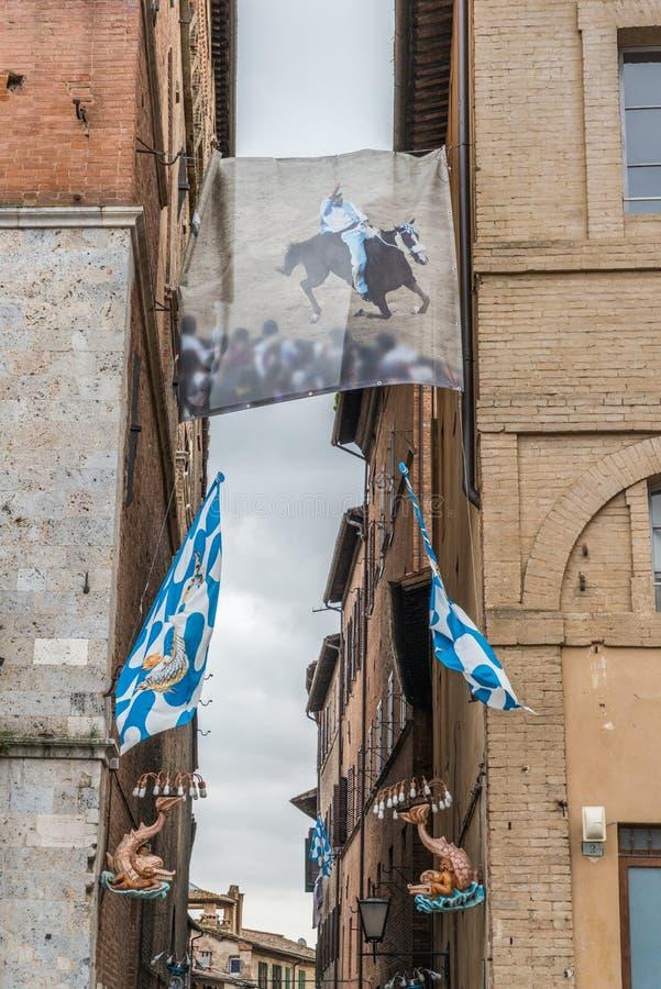 Distrito do contrada de Siena, Toscânia, Itália foto de stock royalty free
