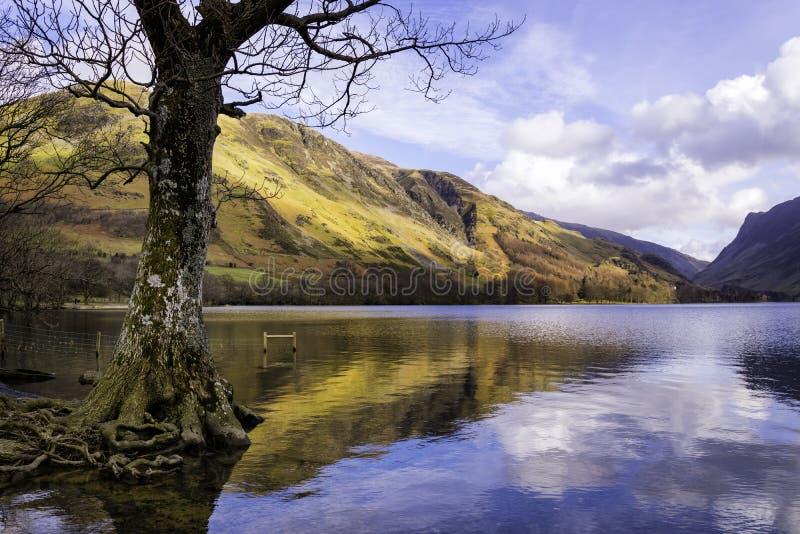 Distrito do lago Buttermere, lago, Inglaterra fotos de stock royalty free