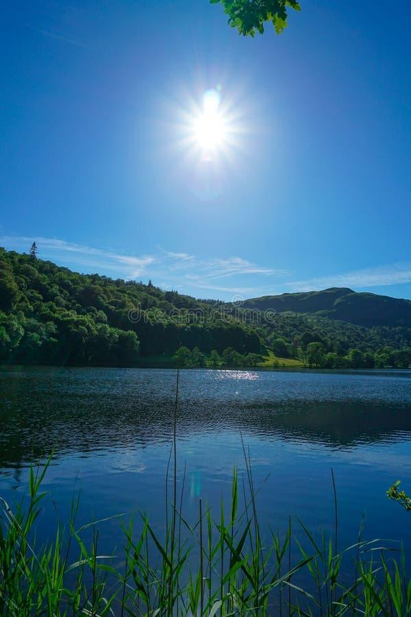 Distrito do lago Grasmere, lago, Reino Unido imagens de stock