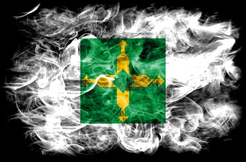 Distrito Federal smoke flag, Ciudad de Mexico.  stock photos