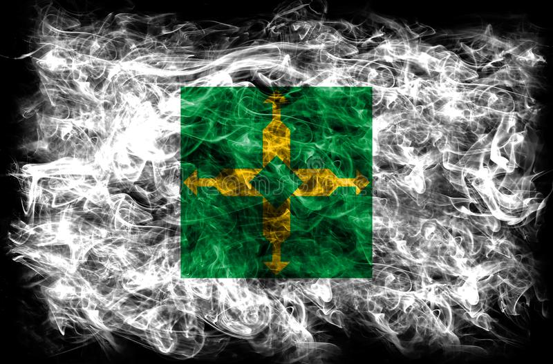 Distrito Federal smoke flag, Ciudad de Mexico.  stock images