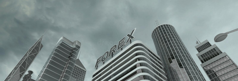 Distrito financeiro foto de stock