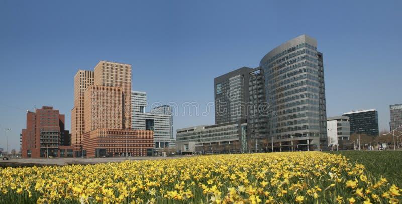 Distrito financeiro, Amsterdão imagens de stock royalty free