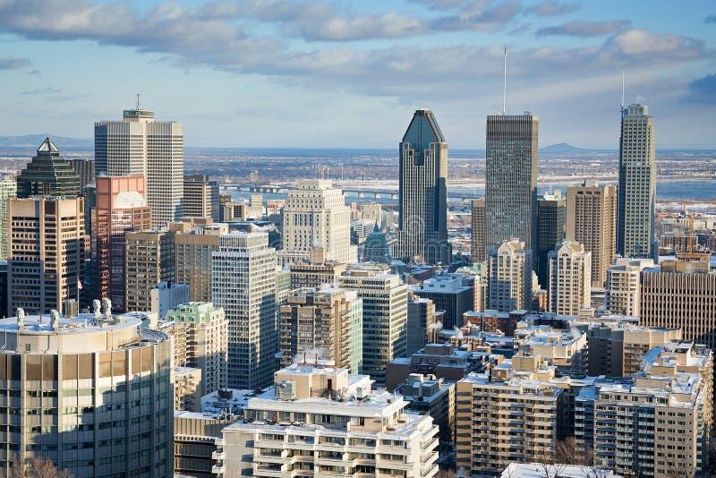 Distrito financeiro de Montreal fotos de stock