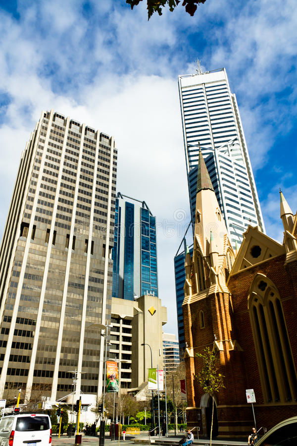 Distrito financeiro de Perth fotografia de stock