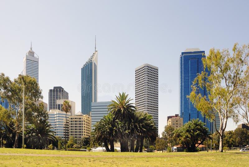 Distrito financeiro do Midtown Perth imagem de stock royalty free