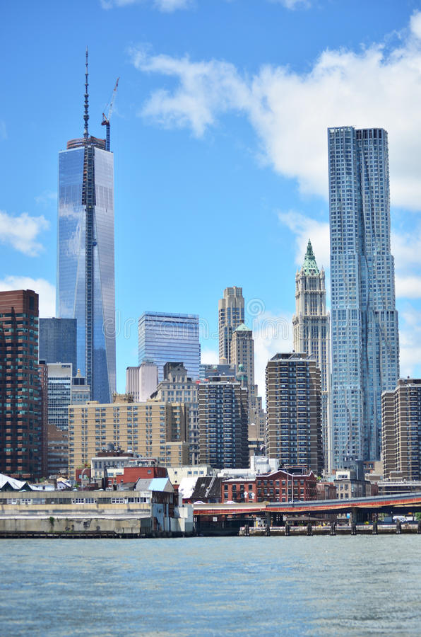 Distrito financeiro, Manhattan fotografia de stock royalty free