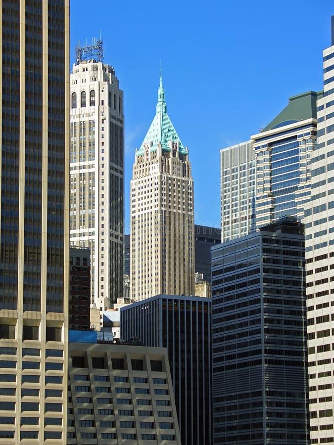 Distrito financeiro, Manhattan, New York fotografia de stock