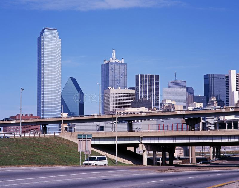 Distrito financiero, Dallas, los E.E.U.U. foto de archivo
