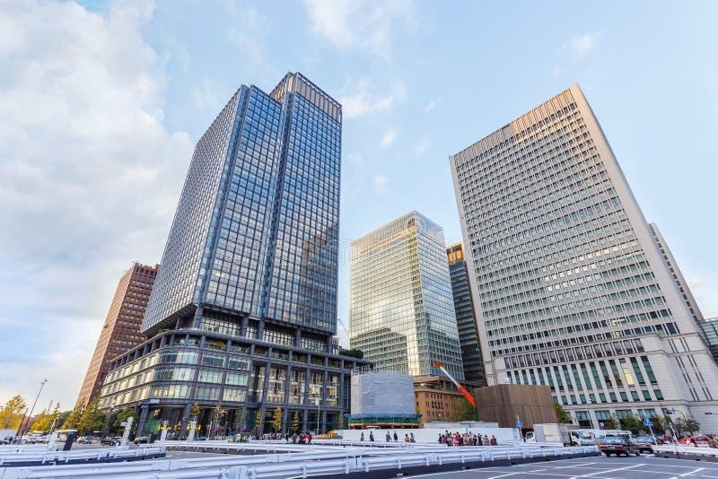 Distrito financiero de Marunouchi en Tokio fotos de archivo libres de regalías