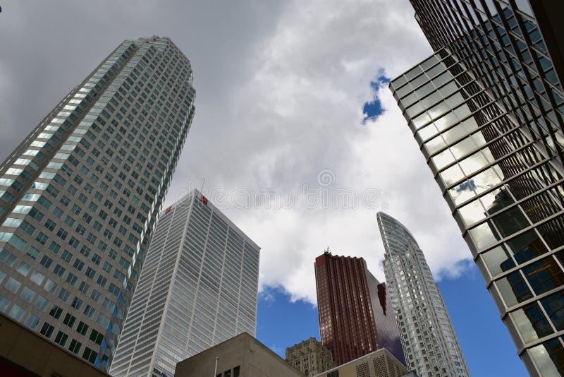 Distrito financiero de Toronto fotos de archivo libres de regalías