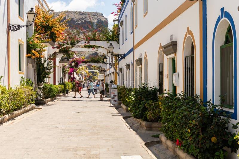 Distrito Gran Canaria de Puerto Mogan Shopping fotos de stock royalty free