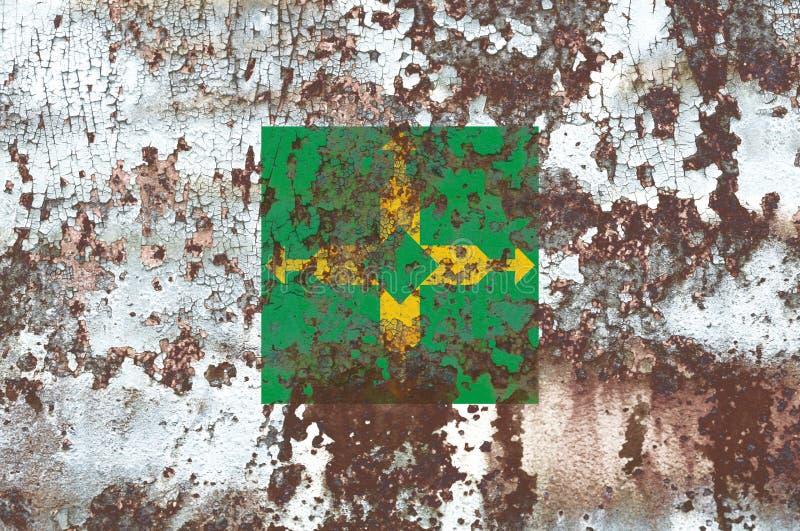 Distrito grunge Federacyjna flaga, Ciudad de Meksyk zdjęcie royalty free