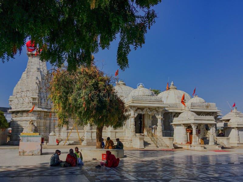 Distrito Gujarat, la India de Mehsana del templo de Becharaji o de Bahucharaji imagen de archivo