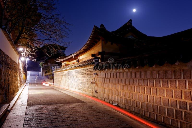 Distrito histórico de Bukchon Hanok en Seul, Corea del Sur imagenes de archivo
