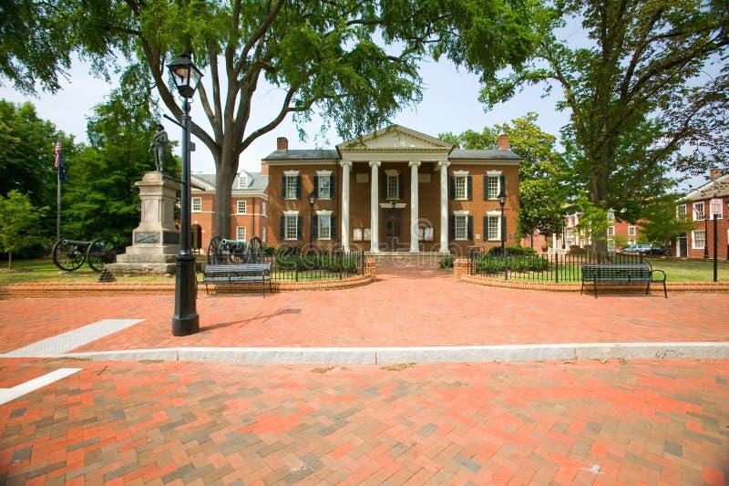 Distrito histórico de Charlottesville, Virginia, hogar de presidente Thomas Jefferson foto de archivo libre de regalías