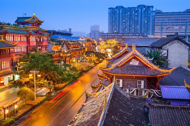 Distrito histórico de Chengdu China foto de archivo