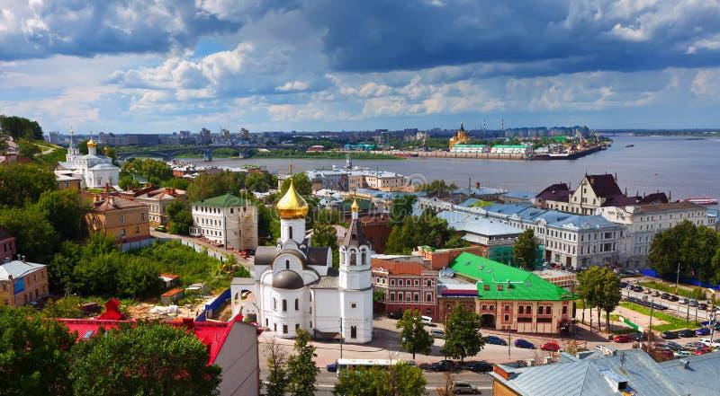 Distrito histórico de Nizhny Novgorod no verão imagens de stock royalty free