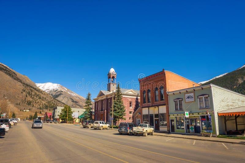 Distrito histórico de Silverton em Colorado fotos de stock royalty free