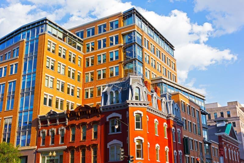 Distrito histórico do centro próximo capital do metro dos E.U. fotografia de stock
