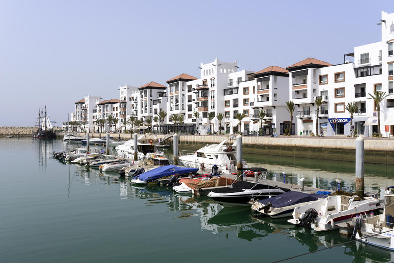 Distrito luxuoso do porto fotografia de stock royalty free