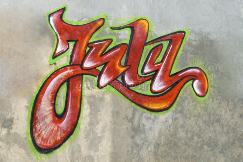Distrito mau vandalism Graffity em uma parede fotografia de stock royalty free