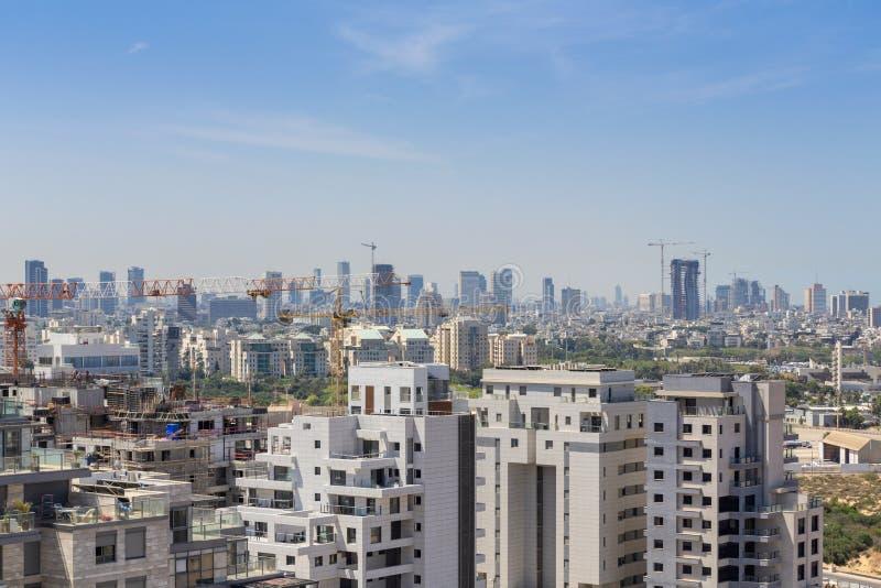 Distrito novo no local norte do telefone Aviv Modern Building And Constraction, Ramat Aviv, Tel Aviv, Israel fotos de stock